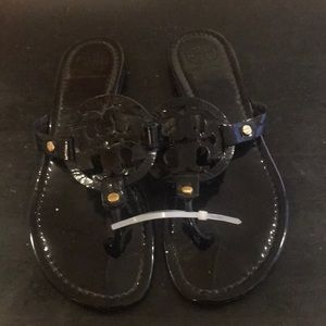 Tory Burch Black Patent Leather Miller's